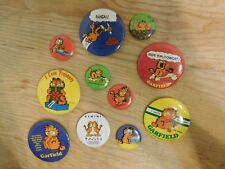 Lot of 11 Vintage Garfield Pinback Buttons