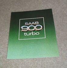 Saab 900 Turbo Brochure 1979