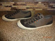 Mens FOSSIL Sz 8 EUR 41 Grey/Black Canvas Lace-up Shoes