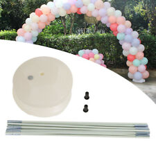 Large Balloon Arch Column Stand Frame Kit for Birthday Wedding Party White