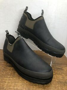 BOGS Tillamook Bay Size 12 Black Waterproof Insulated Slip On Rubber Mucker