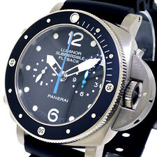 UNWORN PANERAI PAM 615 LUMINOR SUBMERSIBLE 1950 3 DAYS 47 mm TITANIUM FLYBACK