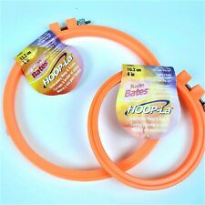 Susan Bates Hoop-La Embroidery Hoops Set of 2 Bright Orange 4 and 6 Inch New