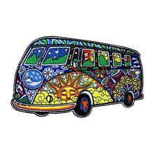 Dan Morris Hippie Bus VW Van Patch Psychedelic 60s Art Craft Iron-On Applique