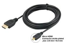 Micro HDMI to HDMI Cable for Asus Transformer Book T300 Chi Tablet to TV HDTV