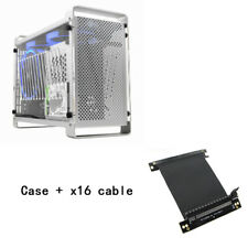 Aluminum mini ITX Desktop Case Transparent Panel with cable for SFX Power Supply