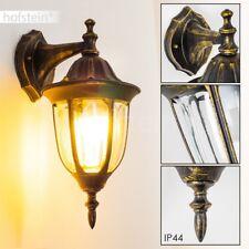 Aussen Wand Leuchte Terrasse Außenlampe Wandlampe Balkon Veranda Gold Glas