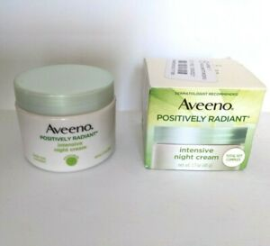 Aveeno Positively Radiant Intensive Night Cream 1.7 oz Face and Neck Soy Complex