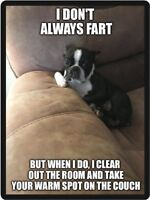 Boston Terrier Don't Always Fart Refrigerator Magnet