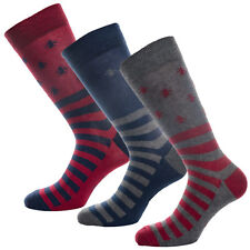 Mens Original Penguin Mens 3 Pack Gift Socks in Grey blue - 7-11
