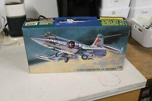 Hasegawa 1/48 scale F-104C Starfighter U S Air Force new in box.