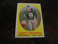 1958 Topps Football---#90 Sonny Jurgensen---Rookie
