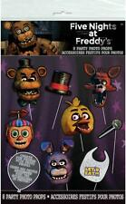 Five Nights at Freddy's Photo Props 8 Pieces Birthday Party Supplies New