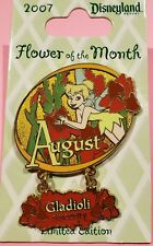 DLR-TINKER BELL FLOWER COLLECTION 2007- AUGUST- GLADIOLI SINCERITY LE 1000 PIN