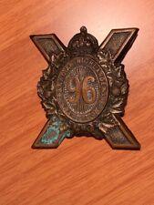 Ww 1 96 Canadian Highlanders Battalion Cap Badge.