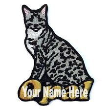Ocicat Gato Custom Parche para Planchar con Nombre Personalizado Gratis