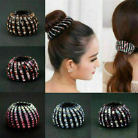 Women's Crystal Rhinestone Hair Clips Claw Clamp Ponytail Holder Accessories