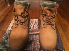 Tan and Green Men's Timberland Boots Size 10.5