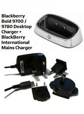 BlackBerry Bold 9700 9780 Desktop Charging Pod Cradle Stand + Mains Charger