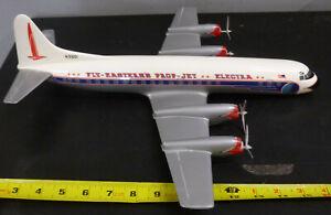 """Vintage Eastern Airlines Model Plane """"Prop Jet Electra"""""""