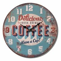 Shabby Chic Vintage Style 40cm Wall Clock Large Coffee Kitchen Room House Home