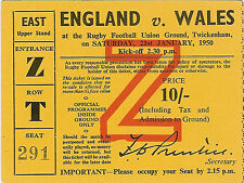 More details for england v wales 21 jan 1950 grand slam season for wales twickenham rugby ticket