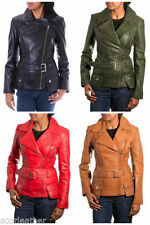 Zip Leather Coats & Jackets for Women's 60s