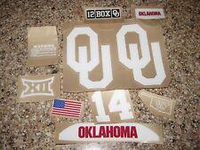 Oklahoma Sooners  20 mil 3M vinyl full size football helmet decals