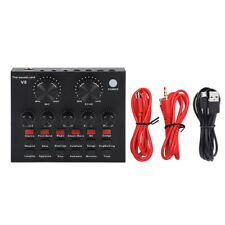 V8 Live Broadcast Headset Microphone Sound Card External USB Singing Recording