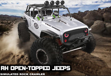 AU Store Remo hobby 2.4G 1/10 RC 4WD ORV Brushed Rock Crawler OPEN-TOPPED JEEPS