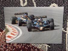 MOTORSPORT POSTCARD - MARIO ANDRETTI & RONNIE PETERSON LOTUS 79 ZANDVOORT 1978