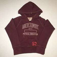 VTG Abercrombie Fitch Hoodie Pullover A+F Long Sleeve Women's Size Medium M Red