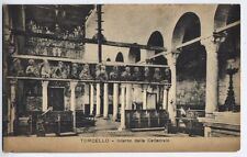 Torcello, Venice, Italy / Italia vintage Postcard - Interior of Cathedral