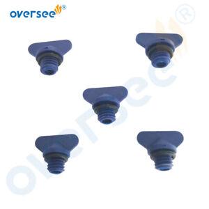 5pcs For Mercruiser & Manifold Block Drain Blue Plug Kit 8M2000874 22-806608A1