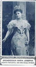 Erzherzogin Maria Josepha Höchste Schutzfrau des Sternkreuz-Ordens K.u.k 1908