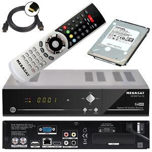 HD TWIN Sat Receiver Megasat 935 + 1TB Festplatte LAN PVR Live TV Stream USB