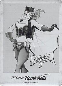 2017 Cryptozoic DC Comics Bombshells Black Printing Plate C08 Batgirl UNIQUE!
