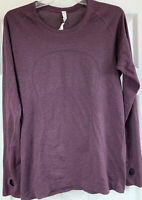 Lululemon Run Swiftly Tech L/S Athletic Top Shirt Women's Size 12 Pink/Black