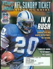 1998 First & Goal NFL Sunday Ticket Viewers' Guide Magazine: Barry Sanders Lions