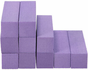 10x Schleifblock / Buffer Lila - Nagelfeilen Set Nagel Polierblock Buffer nagel