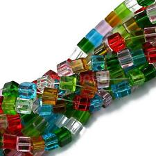 8mm Colorful Loose beads crystal glass cube DIY jewelry bracelet necklace