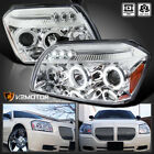 For 2005-2007 Dodge Magnum Clear LED Halo Projector Headlights Lamps Left+Right  for sale