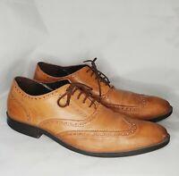 Cole Haan Batlin Oxford Wingtip Brown Leather Shoes C12493 Men Size 11 M