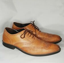 Cole Haan Batlin Oxford Wingtip Brown Leather Shoes C12493 Men Size 11 M