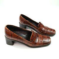 Sesto Meucci Italian Leather Womens Brown Classic Heel Size 5.5 M