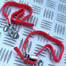 2x FIAMMA RED SECURITY STRAPS for BIKES CARRIERS etc MOTORHOME CARAVAN BOAT