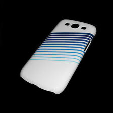NEW BLUE AND WHITE SAMSUNG GALAXY S3 III RIGID PLASTIC CASE SUPER FAST SHIPPING