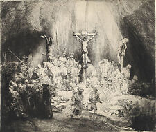 Rembrandt Reproductions: Christ Crucified between Two Thieves: Fine Art Print