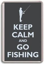 KEEP CALM AND GO FISHING 02 Fridge Magnet