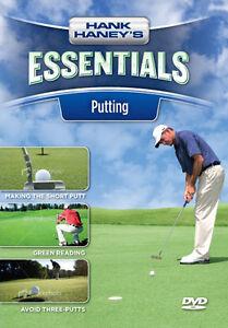 HANK HANEY'S ESSENTIALS-----PUTTING GOLF DVD------new
